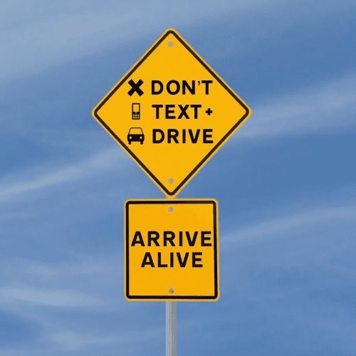 say no to texting and driving
